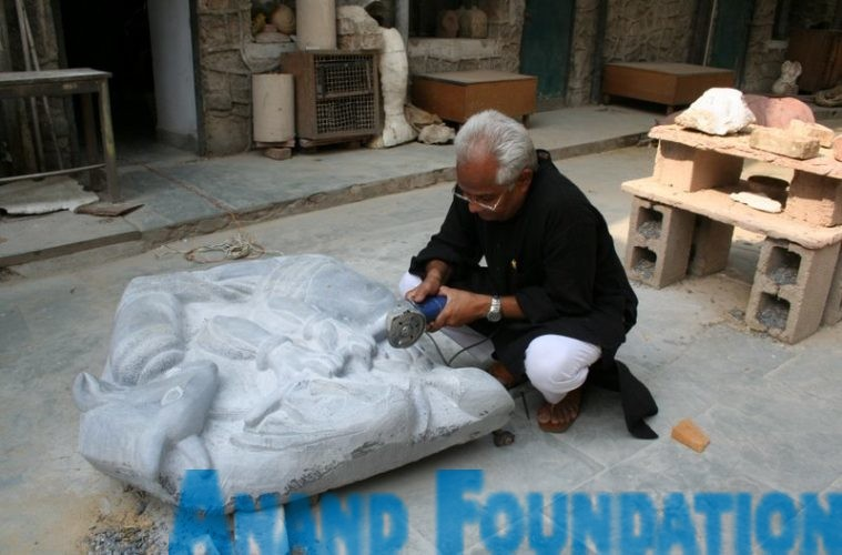 Amitava Bhowmick, a sculptor and artist from Delhi , Anand Foundation