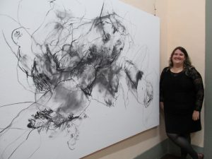"""Layers of the Gaze"" Drawings By Andreia Dulianel @ Art Gallery 